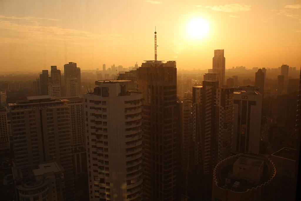 Sonnenuntergang in Kuala Lumpur