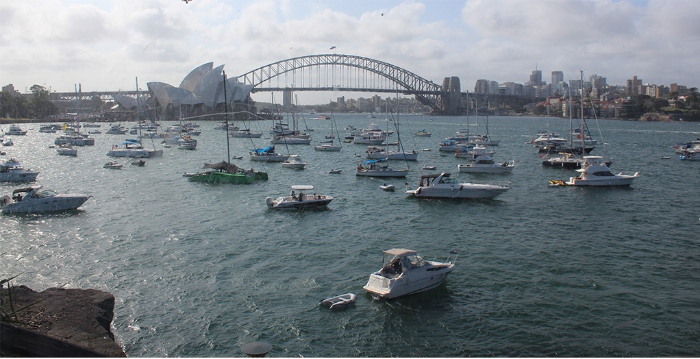 Yachten zu Silvester in Sydney