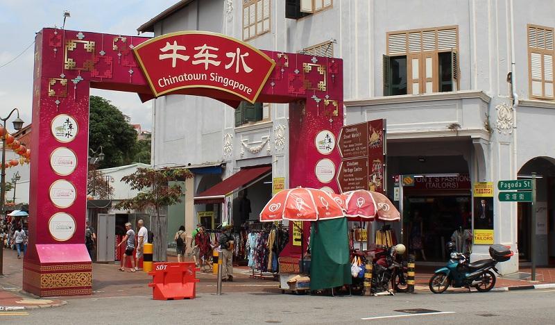Eingang - Chinatown in Singapur