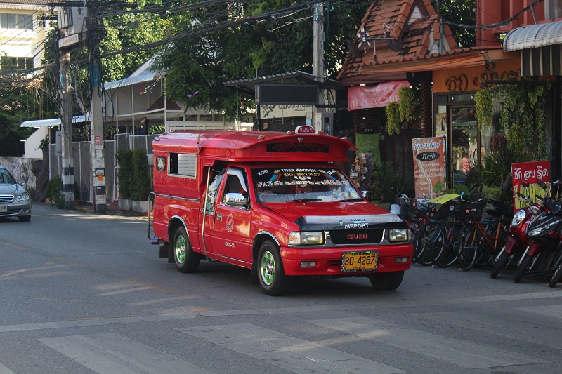 Red Taxi in Chiang Mai