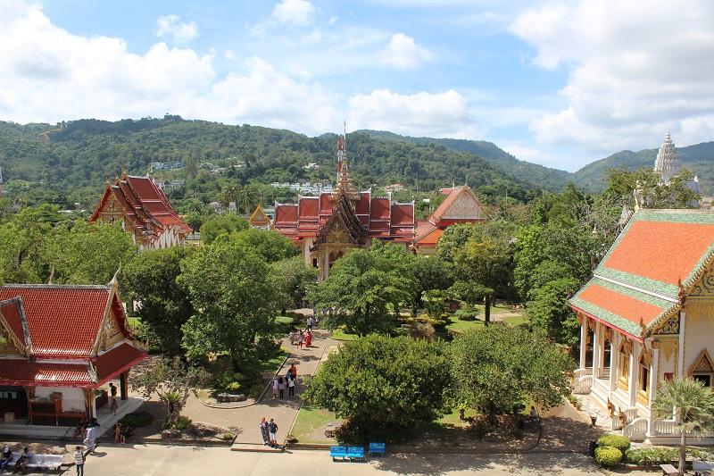 Blick auf Wat Chalong