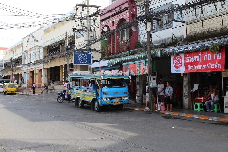 Ranong Road - Bushaltestelle in Phuket Altstadt