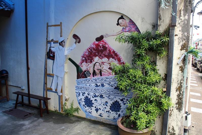 Straßenkunst in Phuket Town