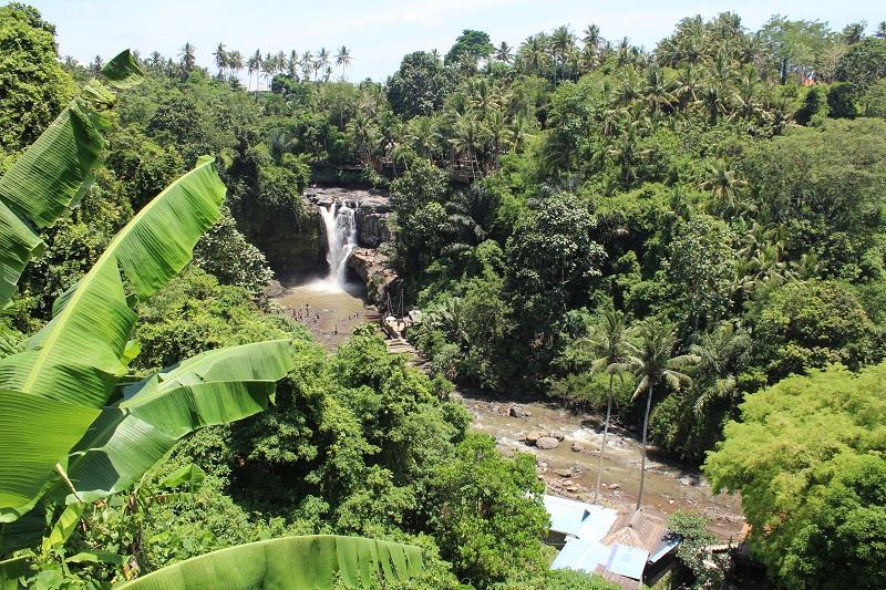 Tegenungan Wasserfall - Weg vom Parkplatz