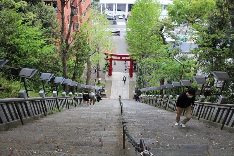 Atago Shrine Stufen