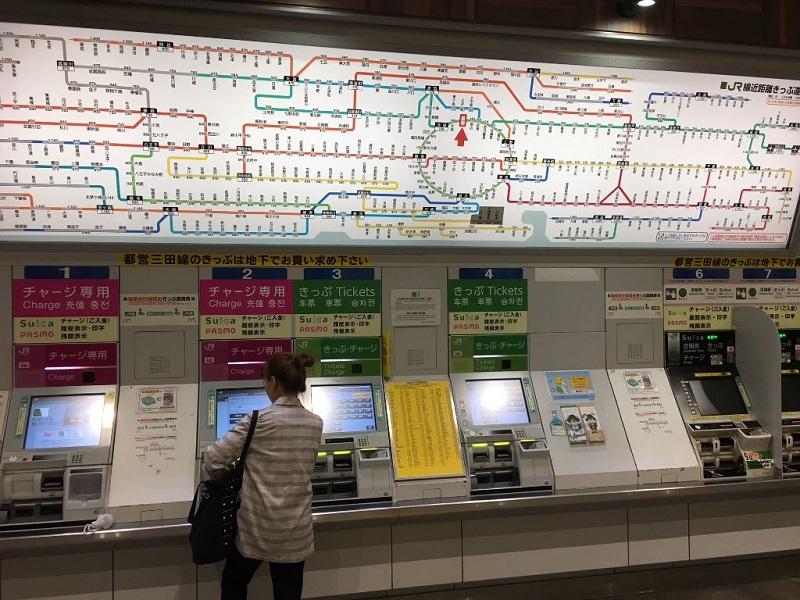 Streckenplan in Tokyo