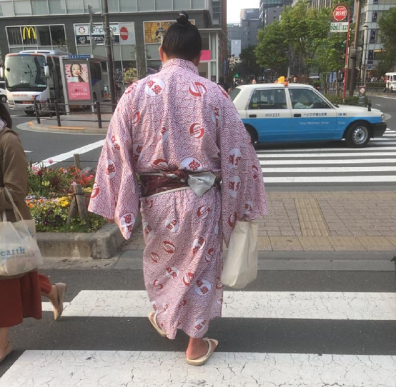Sumo Kämpfer in Tokio