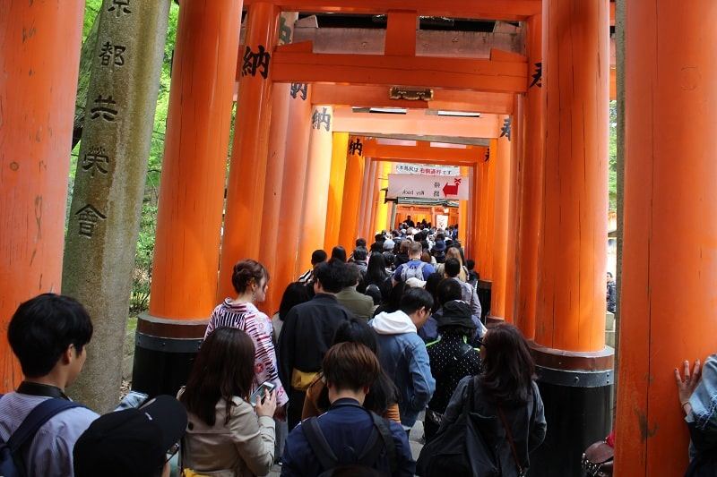 Fushimi Inari-taisha Schrein - Massentourismus