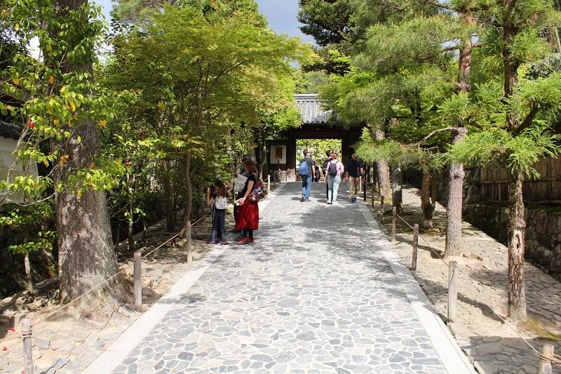 Ginkaku-ji - Eingang zum Tempel Silberner Pavillon
