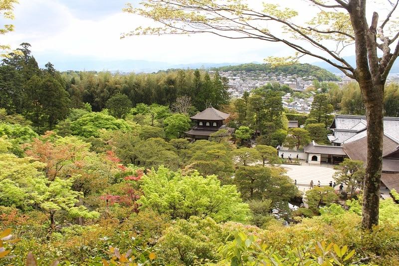 Ginkaku-ji Tempel - Blick über Kyoto