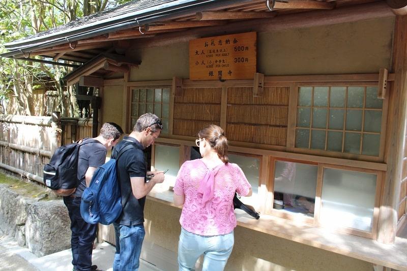 silberner Pavillon Kyoto - Eintrittspreis