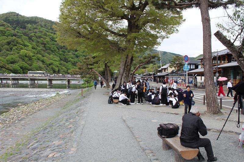 Bushaltestelle in Arashiyama