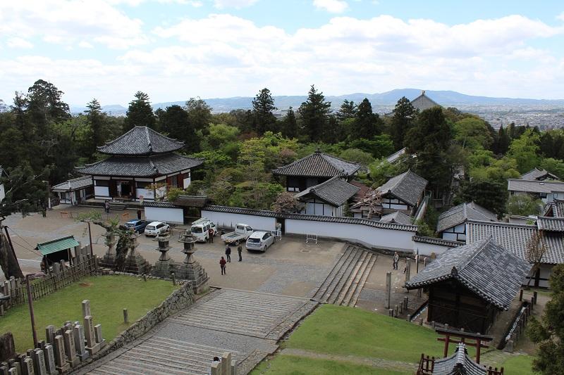 Blick auf Nara - Nigatsu-do Halle
